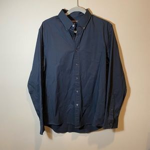 Michael Kors Navy Mens Stretch Dress Shirt